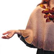 Одежда ручной работы. Ярмарка Мастеров - ручная работа Короткий кейп цвета пыльной розы, 46-56 размер.. Handmade.