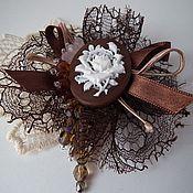 Украшения handmade. Livemaster - original item Brooch vintage BR-3, cameo, crystal. Handmade.