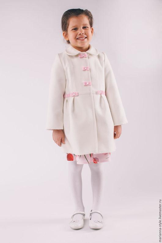 """Одежда для девочек, ручной работы. Ярмарка Мастеров - ручная работа. Купить Пальто для девочки """" Лёгкий шик"""". Handmade. Белый"""