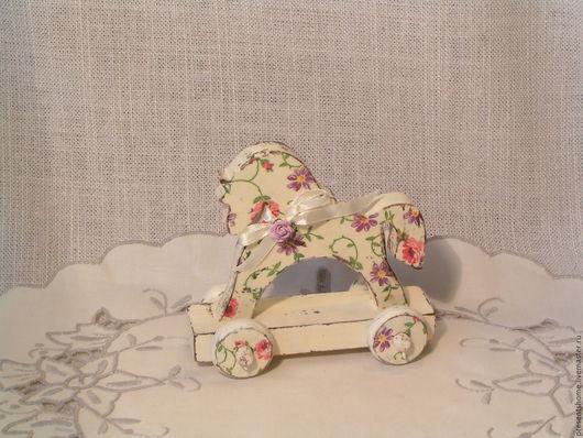 Детская ручной работы. Ярмарка Мастеров - ручная работа. Купить Лошадка Белоснежка. Handmade. Комбинированный, детская комната, шебби стиль