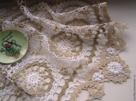 Текстиль, ковры ручной работы. Ярмарка Мастеров - ручная работа. Купить Салфетка Оттенки льна. Handmade. Комбинированный, льняные кружева