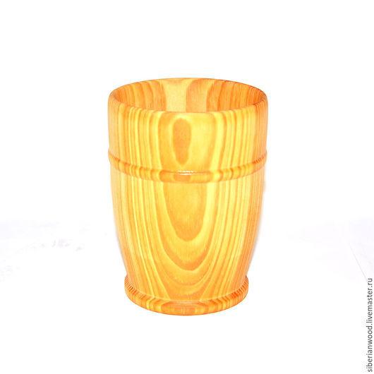 Кружки и чашки ручной работы. Ярмарка Мастеров - ручная работа. Купить Стакан кружка деревянная для чая кваса морсов из натурального кедра K1. Handmade.