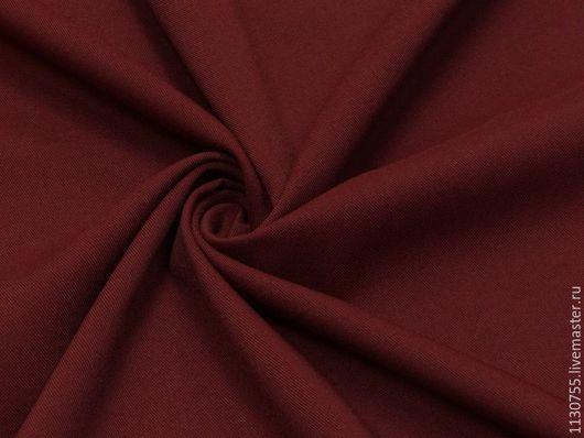 Шитье ручной работы. Ярмарка Мастеров - ручная работа. Купить ткань костюмная вискоза стрейч винный  27.09. Handmade.