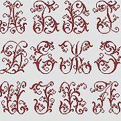 """Материалы для творчества ручной работы. Ярмарка Мастеров - ручная работа Схема для вышивки крестом """"Алфавит. Монограммы"""". Handmade."""