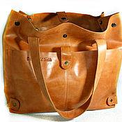 """Классическая сумка ручной работы. Ярмарка Мастеров - ручная работа Сумка ,большая, натуральная кожа, """"Рыжая`. Handmade."""