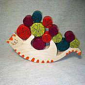 Куклы и игрушки handmade. Livemaster - original item Wooden cat Balancer toy. Handmade.