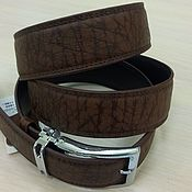 Аксессуары handmade. Livemaster - original item Genuine leather belt, in brown color.. Handmade.