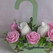 Мыло ручной работы. Ярмарка Мастеров - ручная работа Мыло: Букет роз из мыла ручной работы в зонтике. Handmade.