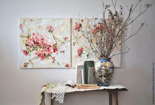 картина маслом с цветами, художники и их картины, современные импрессионисты, объемная фактурная рельефная абстрактная живопись мастихином,  бежевые стены обои, картина для бежевого интерьера, картина