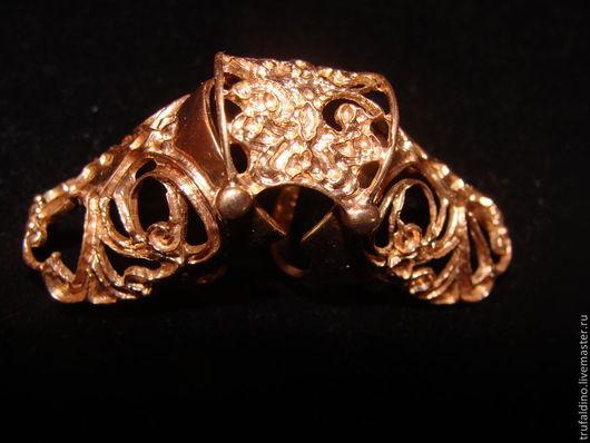 Кольца ручной работы. Ярмарка Мастеров - ручная работа. Купить Серебряное кольцо  на две фаланги. Handmade. Золотой, серебряное кольцо