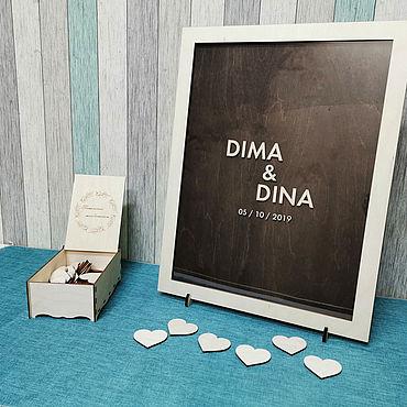 Свадебный салон ручной работы. Ярмарка Мастеров - ручная работа Свадебная рамка для пожеланий (набор). Handmade.