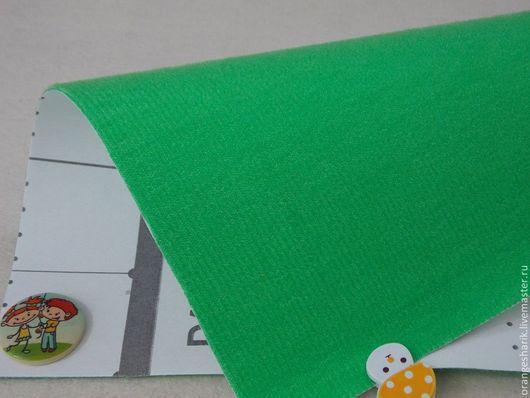 Другие виды рукоделия ручной работы. Ярмарка Мастеров - ручная работа. Купить Велкроткань Тёмно-зелёная. Handmade. Разноцветный, велкро