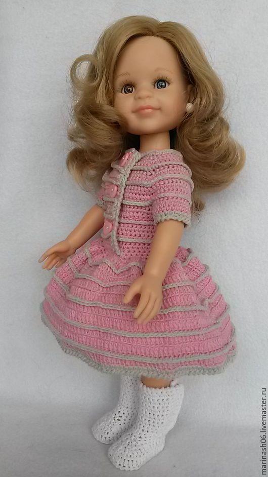 """Одежда для кукол ручной работы. Ярмарка Мастеров - ручная работа. Купить Весенний комплект """"Розовый с серым"""" (Для куклы Paola Reina). Handmade."""