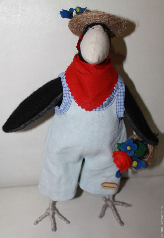 Куклы Тильды ручной работы. Ярмарка Мастеров - ручная работа. Купить ворон-садовник. Handmade. Ворон, тильда птица