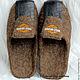 Обувь ручной работы. Тапочки мужские Харлей Девидсон. Войлок без границ. Ярмарка Мастеров. Тапочки ручной работы