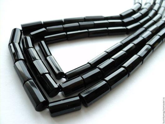 Для украшений ручной работы. Ярмарка Мастеров - ручная работа. Купить Агат черный граненые трубочки 4 размера. Handmade.