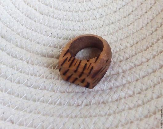 Кольца ручной работы. Ярмарка Мастеров - ручная работа. Купить кольцо. Handmade. Бежевый, кольцо, дерево