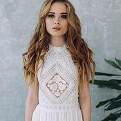 Свадебный салон ручной работы. Ярмарка Мастеров - ручная работа Платье SS17 , свадебное платье, белое платье, кружевное платье. Handmade.