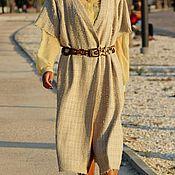 Одежда ручной работы. Ярмарка Мастеров - ручная работа Платье на запах из шерсти с шелком CHANEL. Handmade.