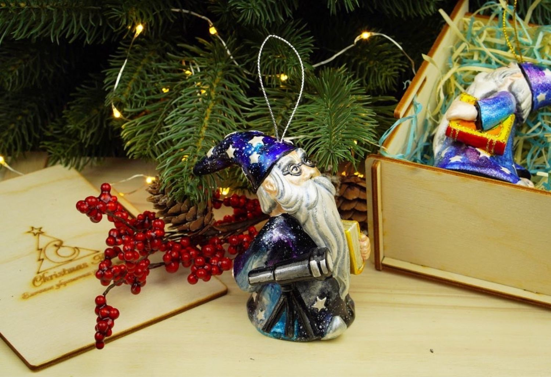Елочная игрушка Новогодняя фарфоровая елочная игрушка Звездочет маг, Елочные игрушки, Москва,  Фото №1