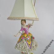 Предметы интерьера винтажные ручной работы. Ярмарка Мастеров - ручная работа Старинный фарфор танцовщица статуэтка в кружеве Германия. Handmade.