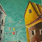 Картины и панно ручной работы. Ярмарка Мастеров - ручная работа Зеленое небо. Handmade.