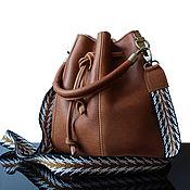 Bucketbag handmade. Livemaster - original item Camel Brut Big leather satchel bag redhead. Handmade.