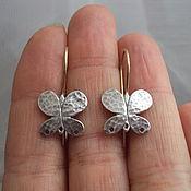 Серебро 925. Швензы-бабочки.