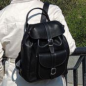Сумки и аксессуары handmade. Livemaster - original item Backpack leather women`s black Alba Fashion P53-111. Handmade.