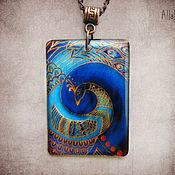 Украшения handmade. Livemaster - original item transparent pendant peacock jewelry resin. Handmade.