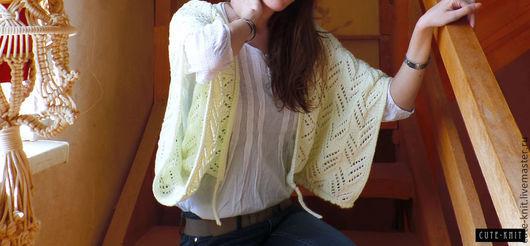 Чтобы лучше рассмотреть модель, нажмите на фото Ната Онипченко CUTE-KNIT Ярмарка мастеров Возможно изготовление модели и на пуговицах Купить вязаный жакет женский