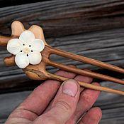 Сувениры и подарки handmade. Livemaster - original item Hair clip made of wood.Bone carving.. Handmade.
