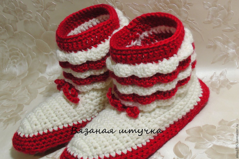 вязание сапожек
