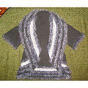 Одежда ручной работы. Ярмарка Мастеров - ручная работа Описание вязания накидки-трансформера бесшовной двухсторонней. Handmade.