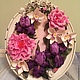 Интерьерные композиции ручной работы. Букет с ирисами и орхидеями в фоторамке. Гаяне Шахпарян. Ярмарка Мастеров. Подарок на день рождения