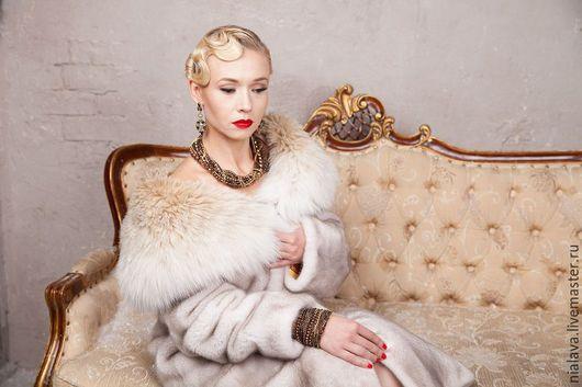 Нарядные эксклюзивные стильные авторские украшения из натуральных камней массивное крупное колье ожерелье на шею комплект браслет бижутерии купить заказать Светланы Молодых в Москве