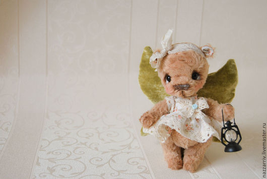 Мишки Тедди ручной работы. Ярмарка Мастеров - ручная работа. Купить Эльма. Handmade. Зеленый, мишка девочка, подарок сестре