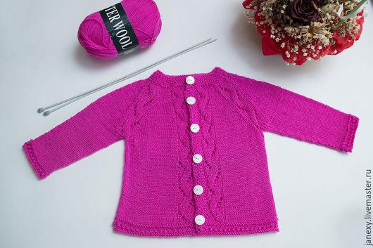 """Одежда для девочек, ручной работы. Ярмарка Мастеров - ручная работа. Купить Кофточка для девочки """"Ассоль"""". Handmade. Розовый, вязаная кофточка"""