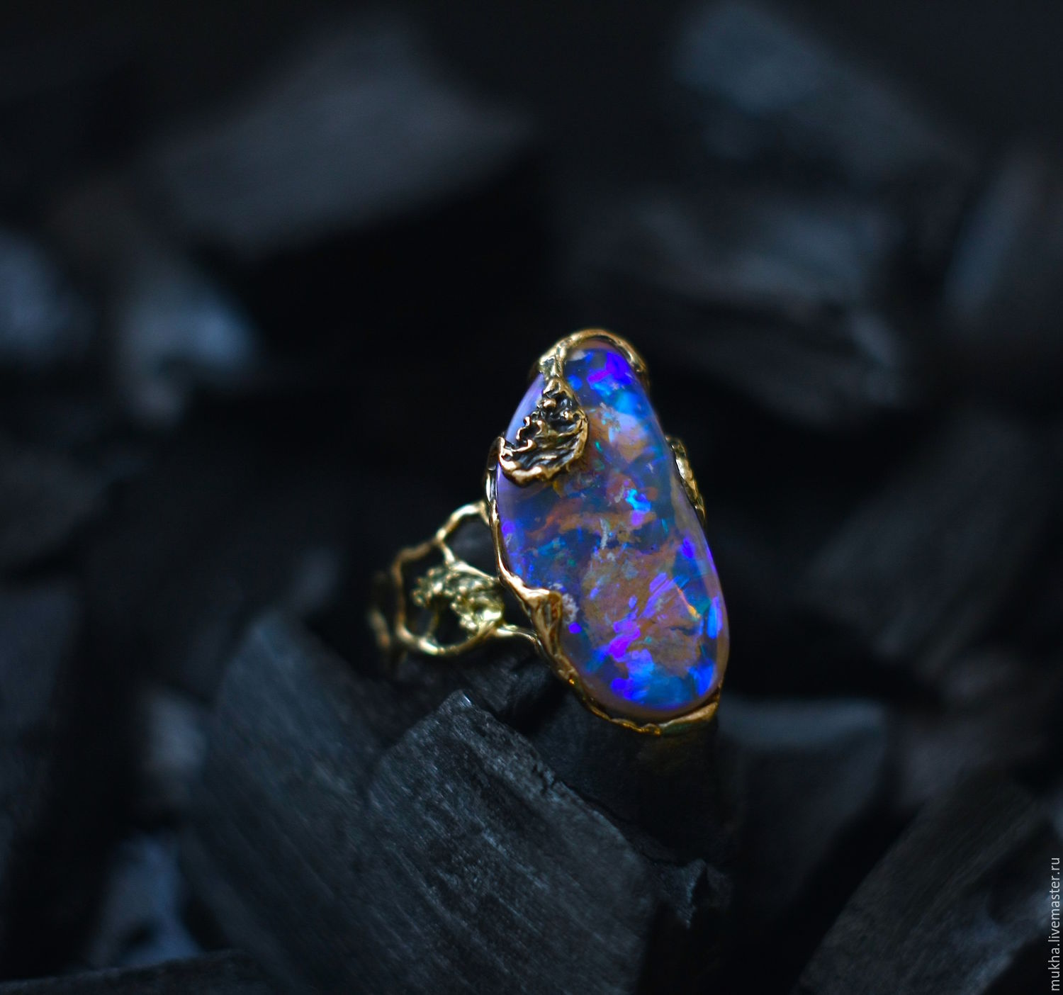 Ring 'Blue Lagoon' with opal, Rings, Moscow,  Фото №1