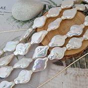 Материалы для творчества handmade. Livemaster - original item 1 PCs. Kesha pearls 11-12h17-18 mm AA white (4436). Handmade.