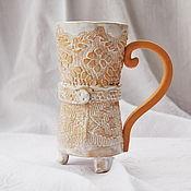 """Посуда ручной работы. Ярмарка Мастеров - ручная работа Кружка """"Чаепитие в стиле бохо"""". Handmade."""