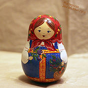 Куклы и игрушки ручной работы. Ярмарка Мастеров - ручная работа Неваляшка музыкальная с корзинкой. Handmade.