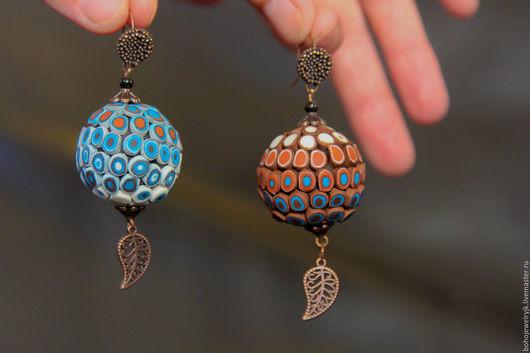 Серьги ручной работы. Ярмарка Мастеров - ручная работа. Купить Бохо серьги Шарики, бохо украшение, африканский стиль. Handmade.