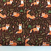 Материалы для творчества handmade. Livemaster - original item Jacket fabric duspo Chanterelles in the forest. Handmade.