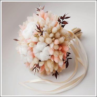 Свадебный салон ручной работы. Ярмарка Мастеров - ручная работа Свадебный букет невесты из сухоцветов. Handmade.