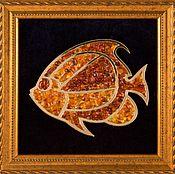 Картины и панно handmade. Livemaster - original item panels of amber