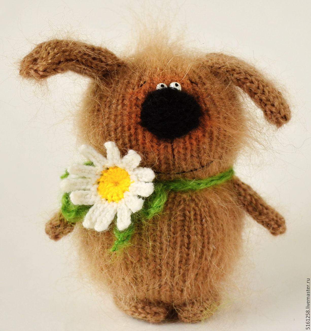 Купить Вязаная собака игрушка вязаная собачка амигуруми в ...