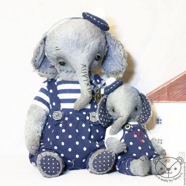 Куклы и игрушки ручной работы. Ярмарка Мастеров - ручная работа Пара слоников Пьер и Реми. Handmade.