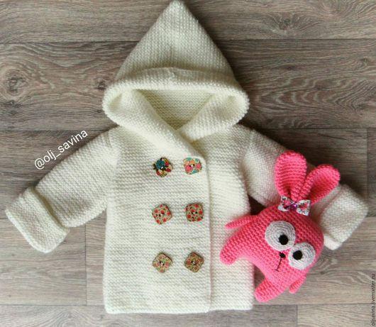 Одежда для девочек, ручной работы. Ярмарка Мастеров - ручная работа. Купить Теплый кардиган для девочки. Handmade. Белый