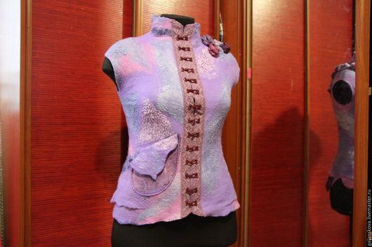 Пиджаки, жакеты ручной работы. Ярмарка Мастеров - ручная работа. Купить жилет бохо. Handmade. Комбинированный, жилет, валяный жакет